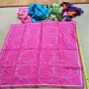 100%Authentic Silk Coach Scarf/Handbag Decor